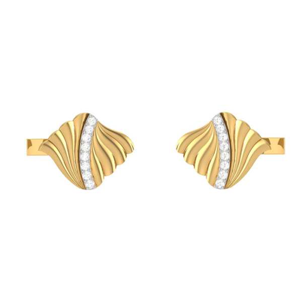 Curvy Lines Diamond Cufflink