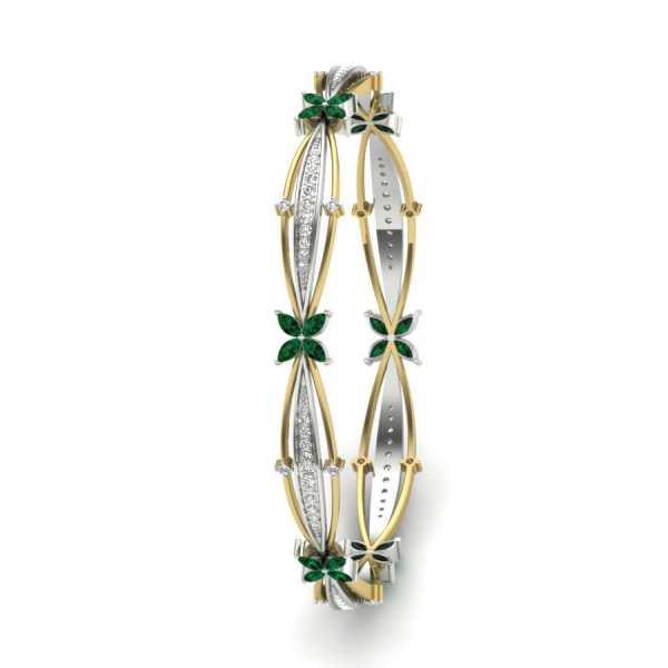 Green Diamond With Curve Shape