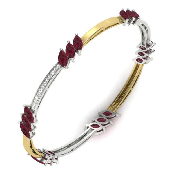 Three Red Diamond Shape Bangle
