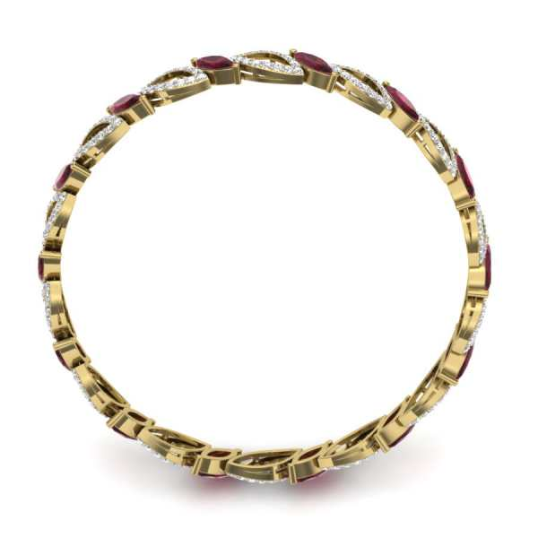 Fancy Red Diamond Bangle