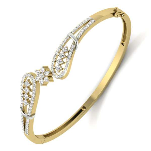 Floret Joint Diamond Bangle