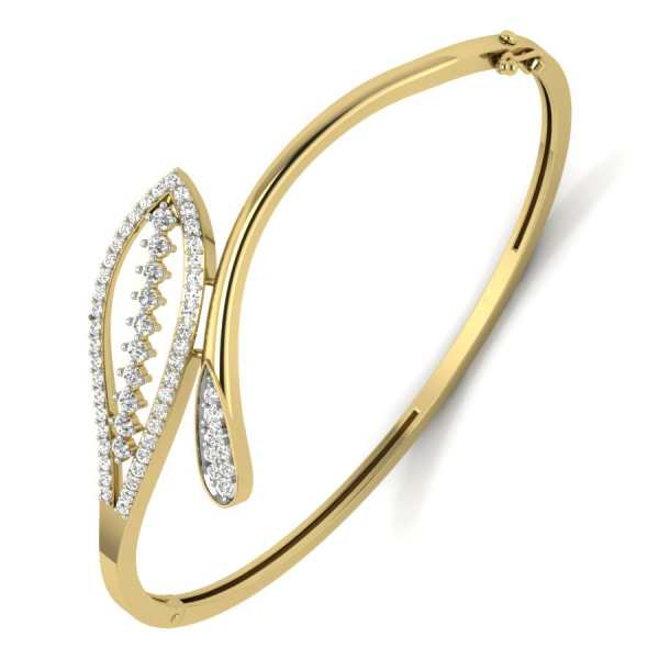Stylish Leaf Diamond Bangle