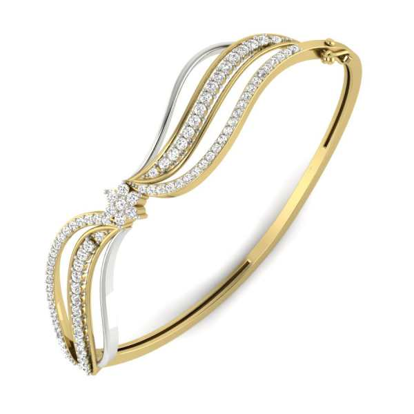 Shiny n Swirly Diamond Bangle