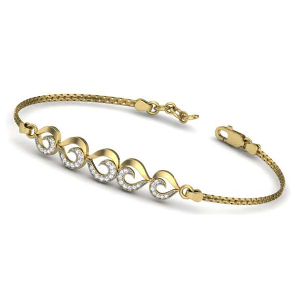 5 Heart Diamond Bangle