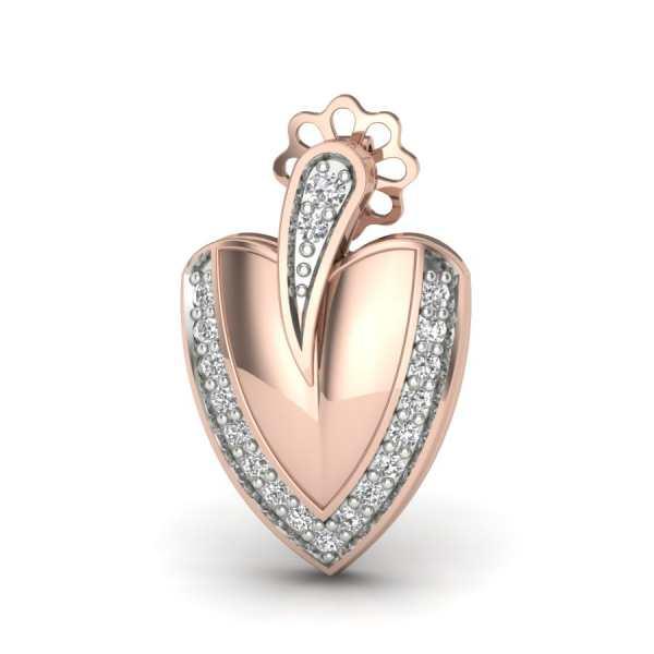 Fancy Heart Leaf Earring