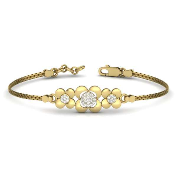 3 Flower Diamond Bangle