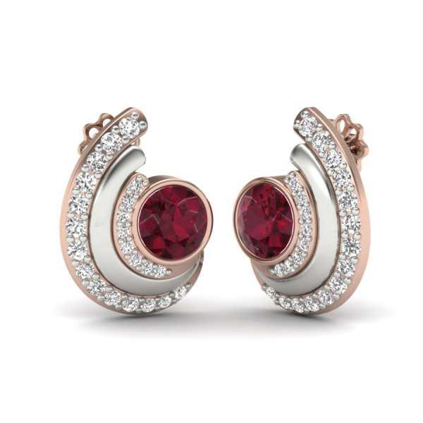 Red Stud Earring