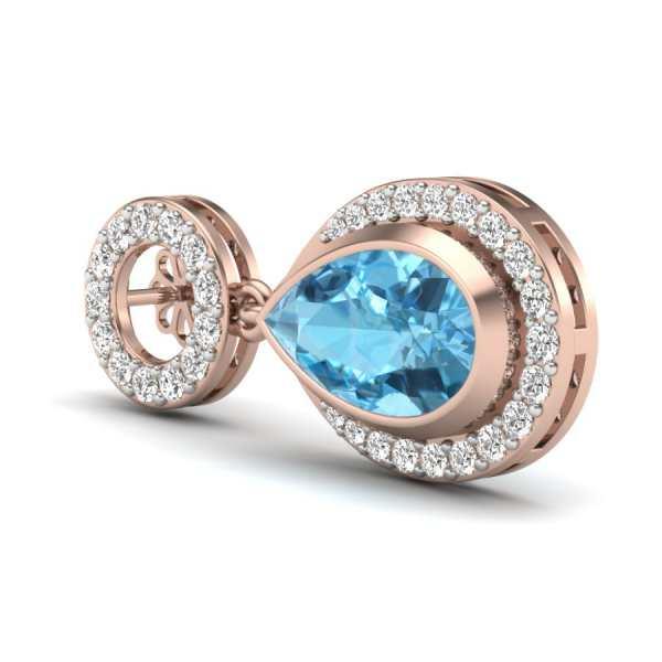 Bluestone Diamond Earring
