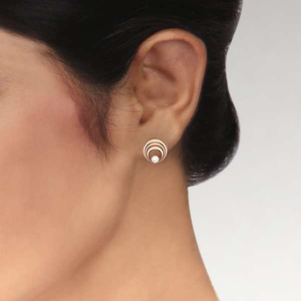 Four Rounded Diamond Earring
