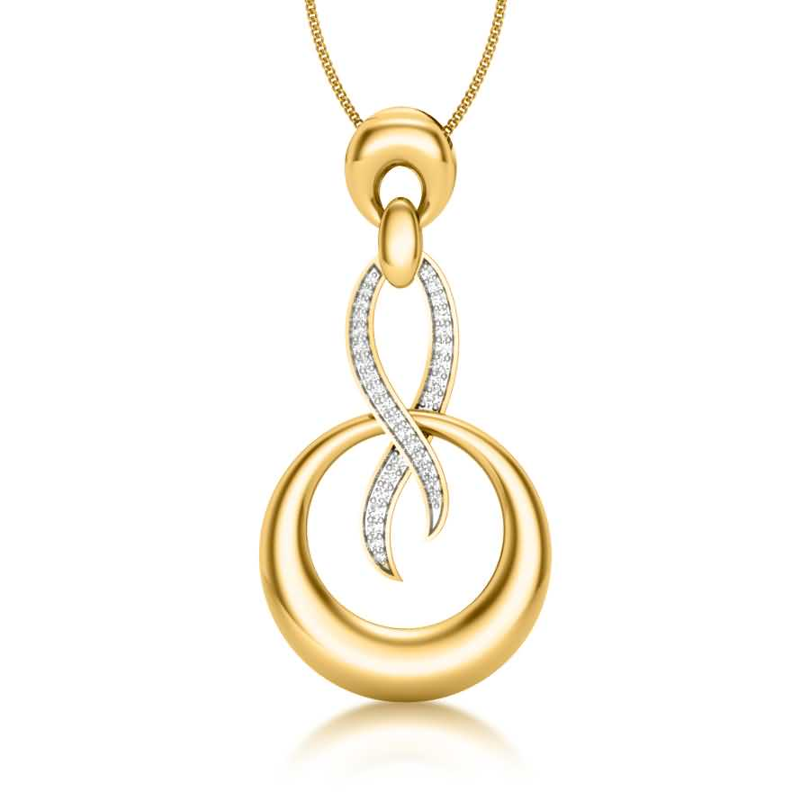 Rounding Shine Diamond Pendant