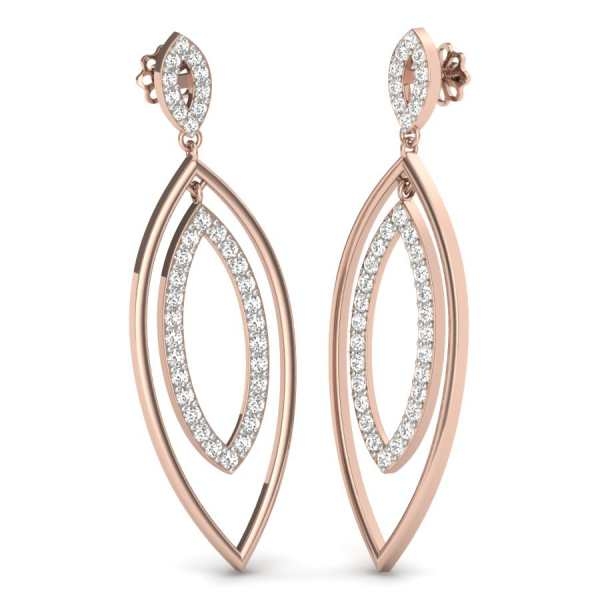 Oval Shape Latkan Earring