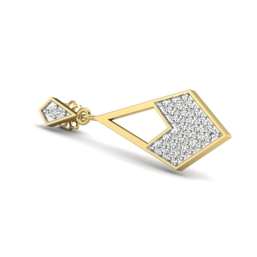 Kite Shape Diamond Earring