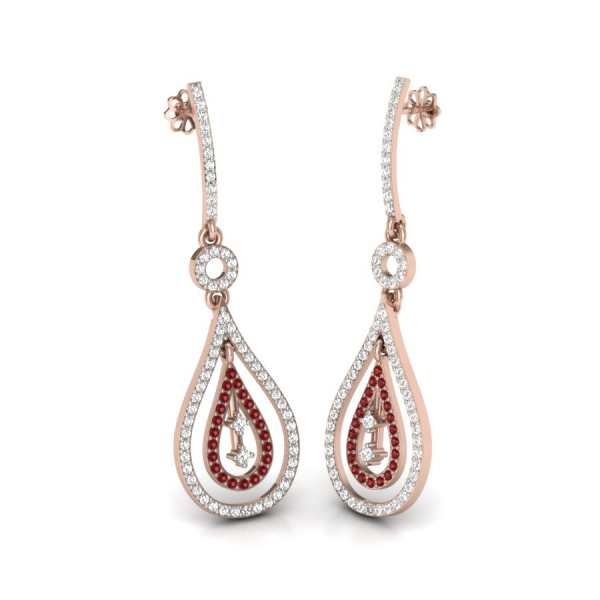 Red Diamond Latkan Earring