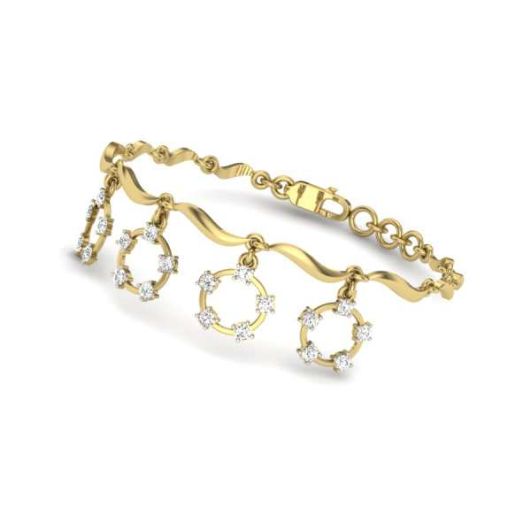 Dangling 4 Diamond Bangle