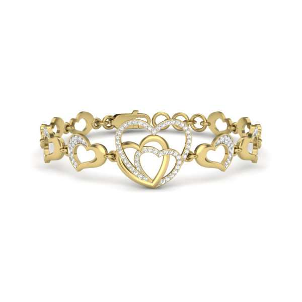 Heart To Heart Diamond Bangle