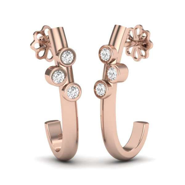 Delight J 3 Diamond Earring
