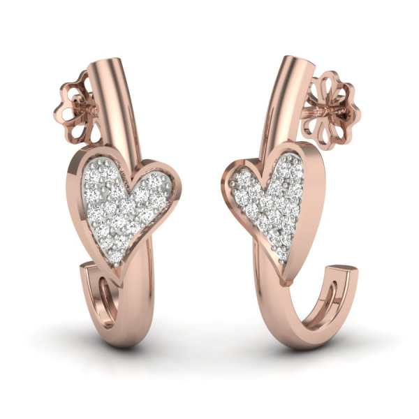 Heart With Delight J Earring