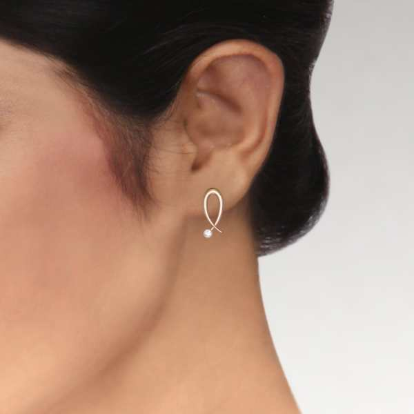 Simply With 1 Diamond Earring