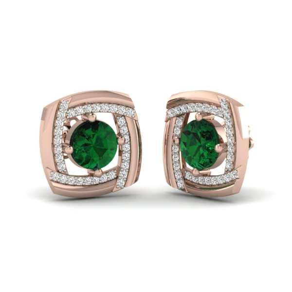 Emerald Stud Earring
