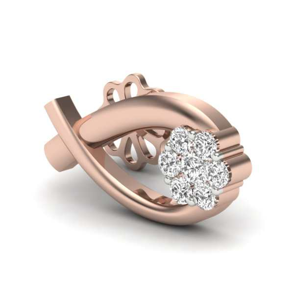 Oval With Diamond Earring