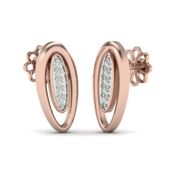 Oval Shape Earring