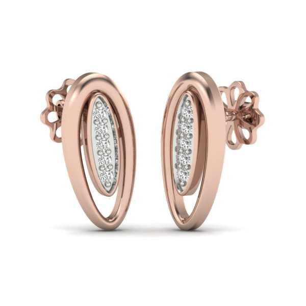 Oval Shape Earring