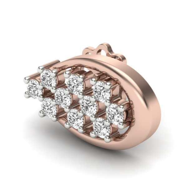 Oval Shape Diamond Earring