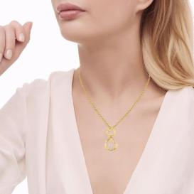Droopy Hearts Diamond Pendant