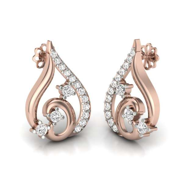 Stylish Studded Diamond Earrin
