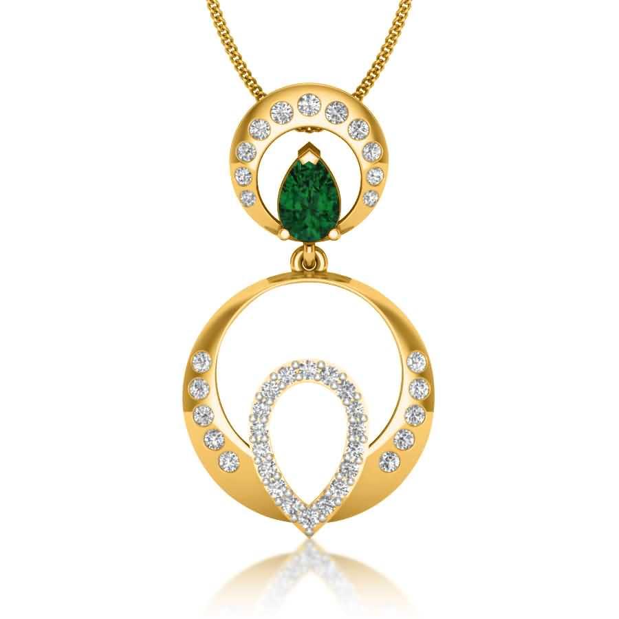 Kasturi Diamond Pendant