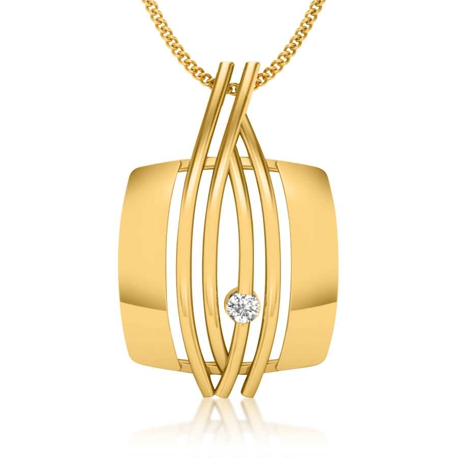 Trendy Diamond Pendant