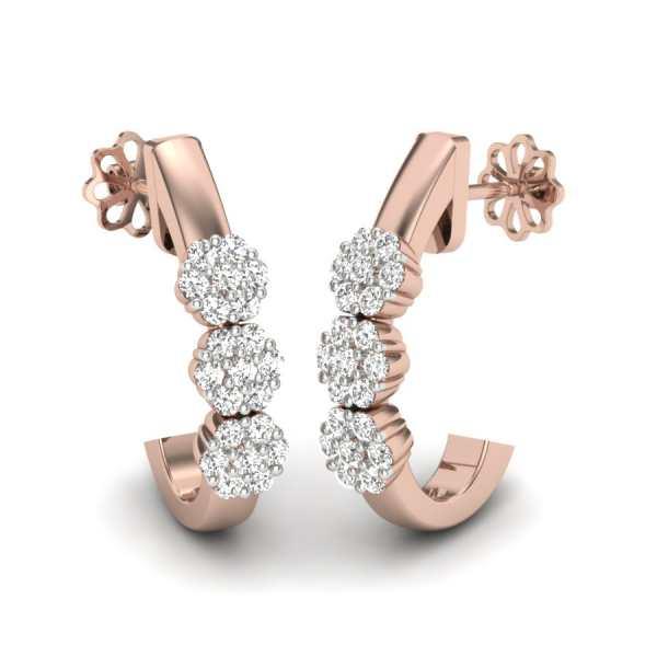 Cross J With 3 Diamond Flower