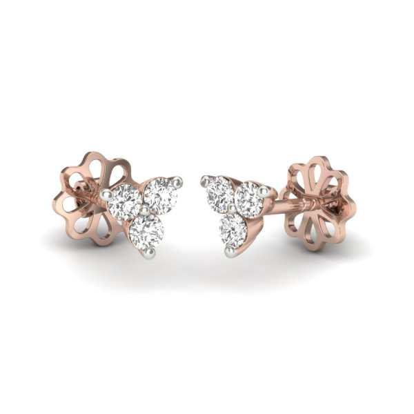 Three Diamond Earring