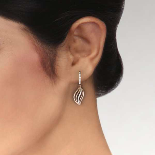 Leaf Shape With Latkan Earring