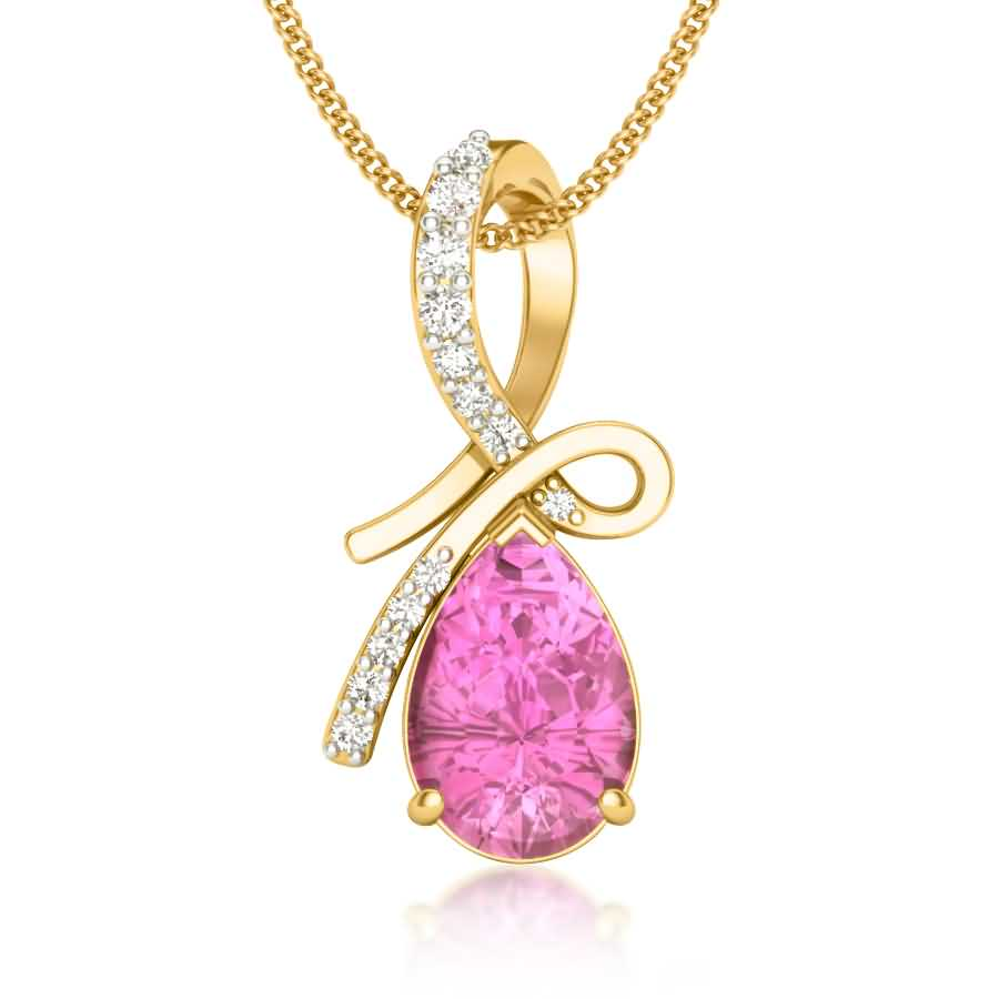 Knotted Ruby Diamond Pendant