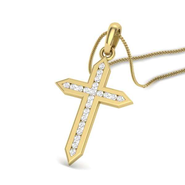 Christ Cross Diamond Pendant