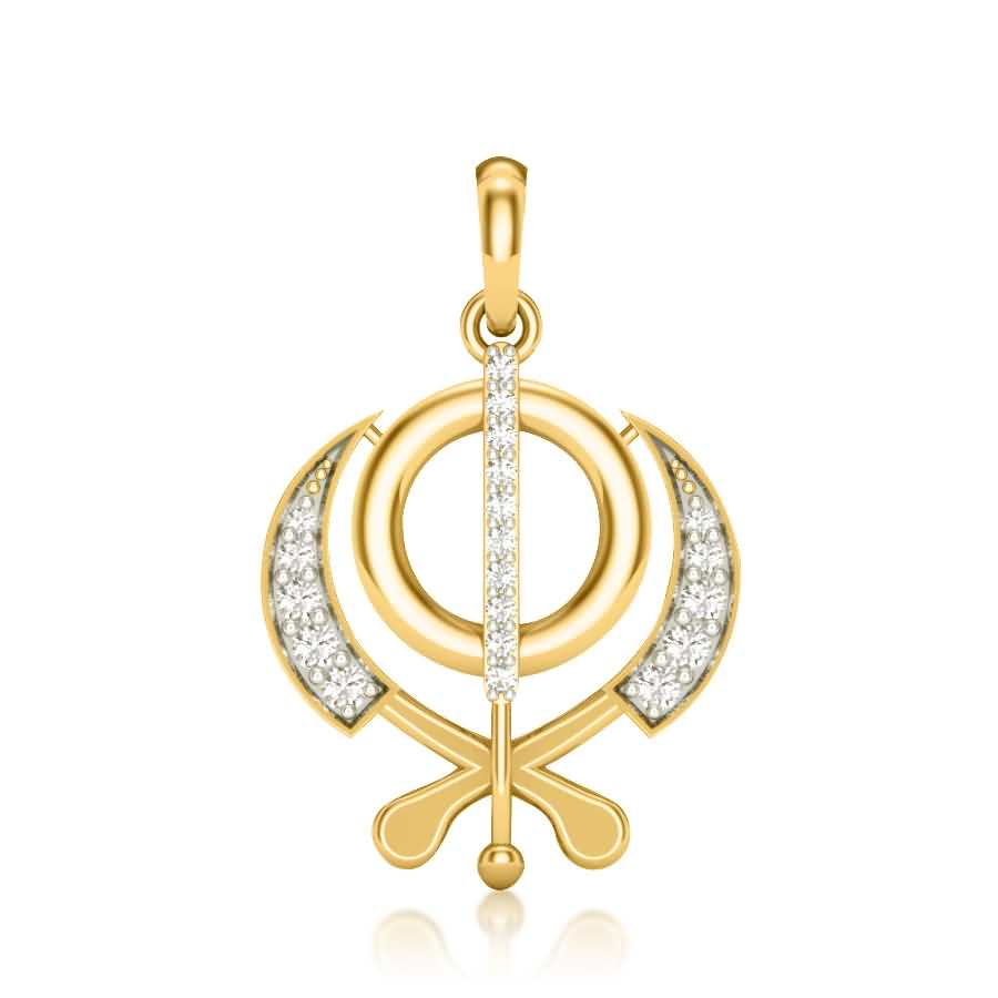 Shining Kripan Diamond Pendant