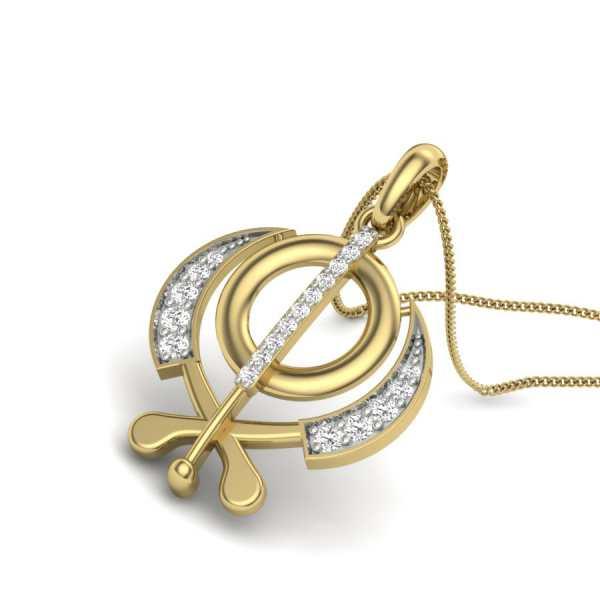 Shining Kripan Diamond Pendant