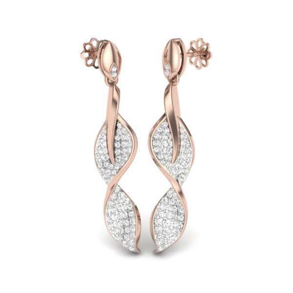 Stylish Look Of Diamond Earrin