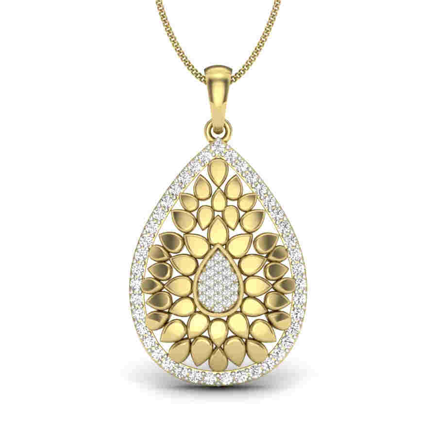 Studded Pears Diamond Pendant