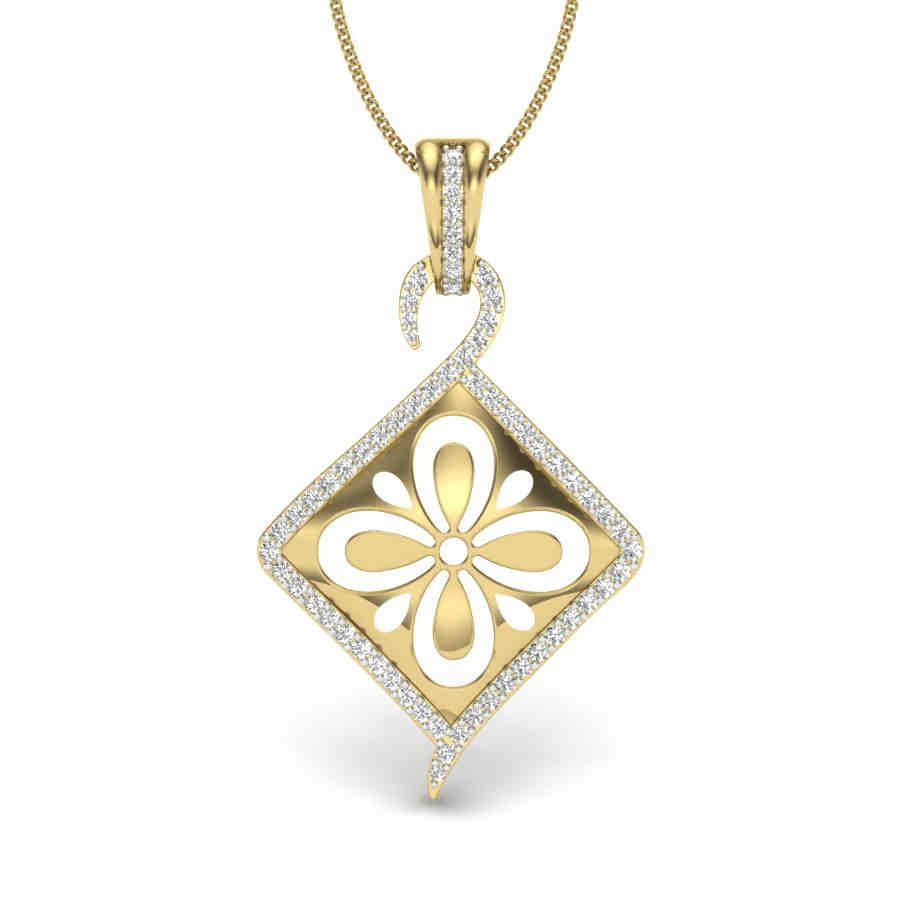 Lustur Kite Diamond Pendant