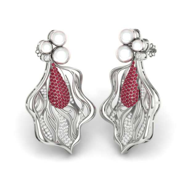 Red Diamond Classic Earring