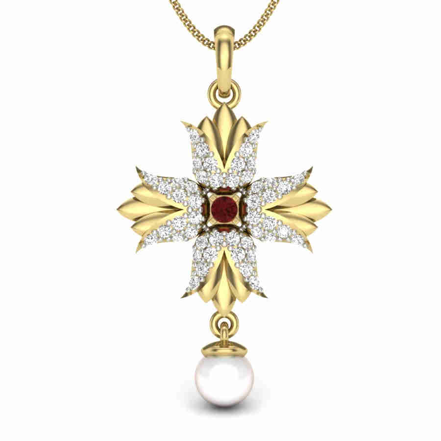 Magic Of Pearl Diamond Pendant