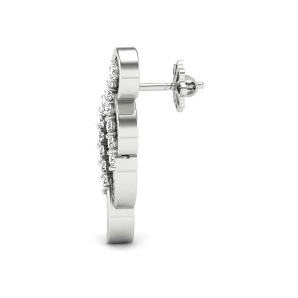 Cross Line Diamond Earring