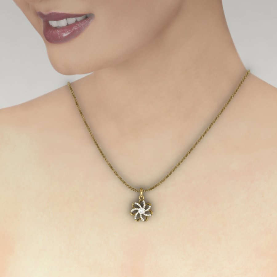 Elegant Star Diamond Pendant