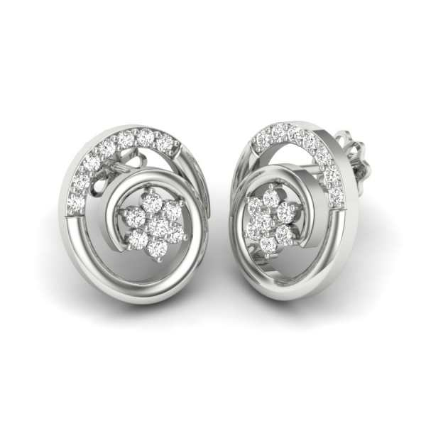 Two Round Diamond Earring