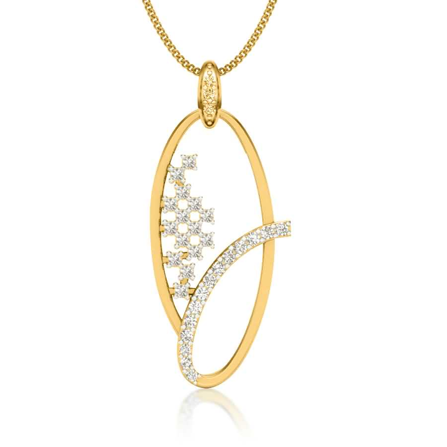 Charming Oval Shape Pendant