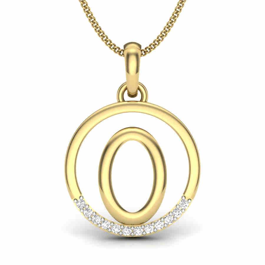 Letter O Diamond Pendant