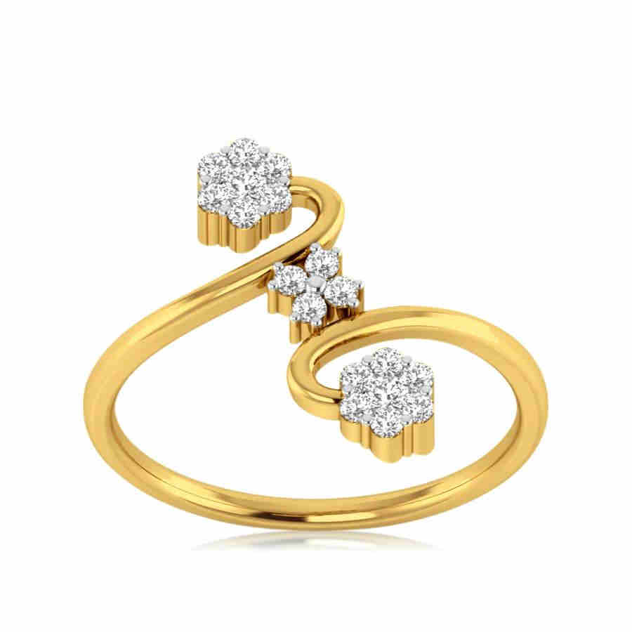 Trendy Curves Diamond Ring