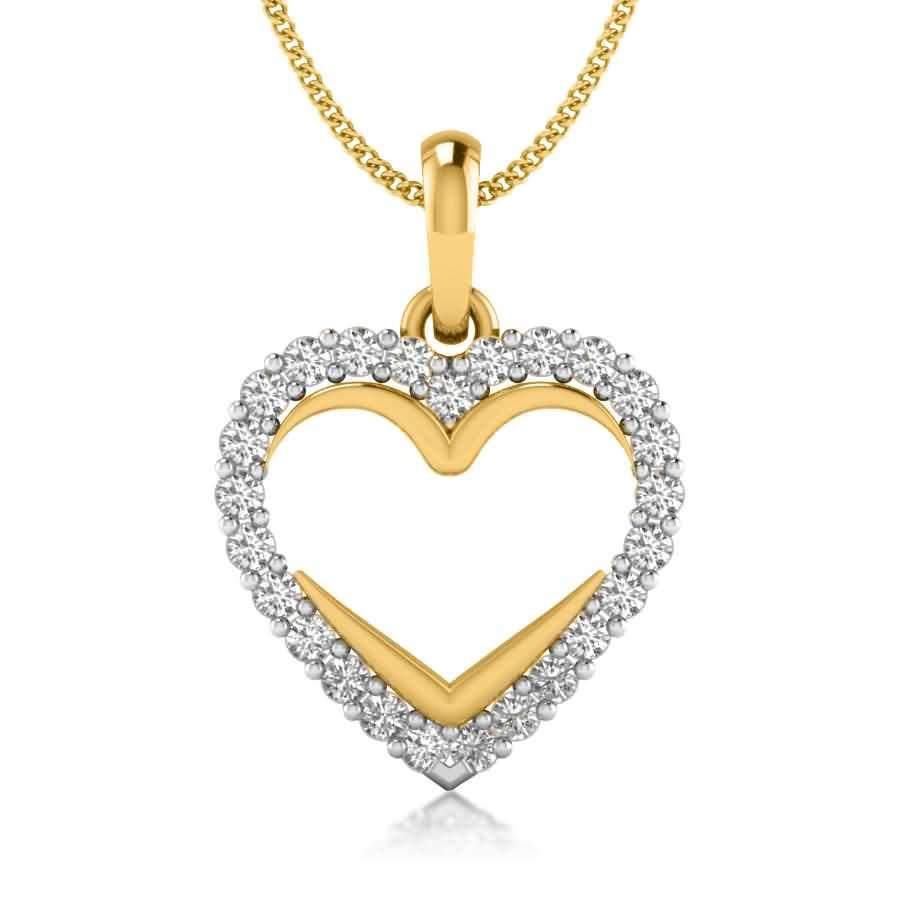 Glittering Heart Pendant
